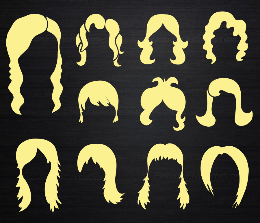 Hair clipart curly hair wig Blonde hair Cliparts Cliparts curly