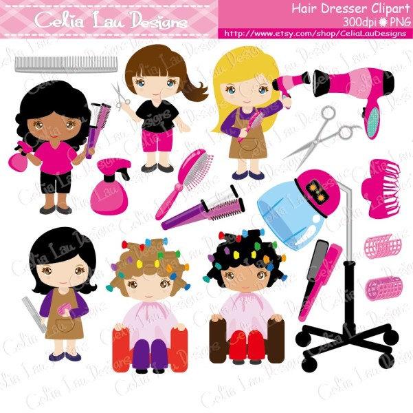 Hair clipart cute Art Dresser clipart Girls hair
