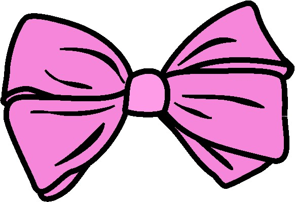 Pink Hair clipart pink bow #11