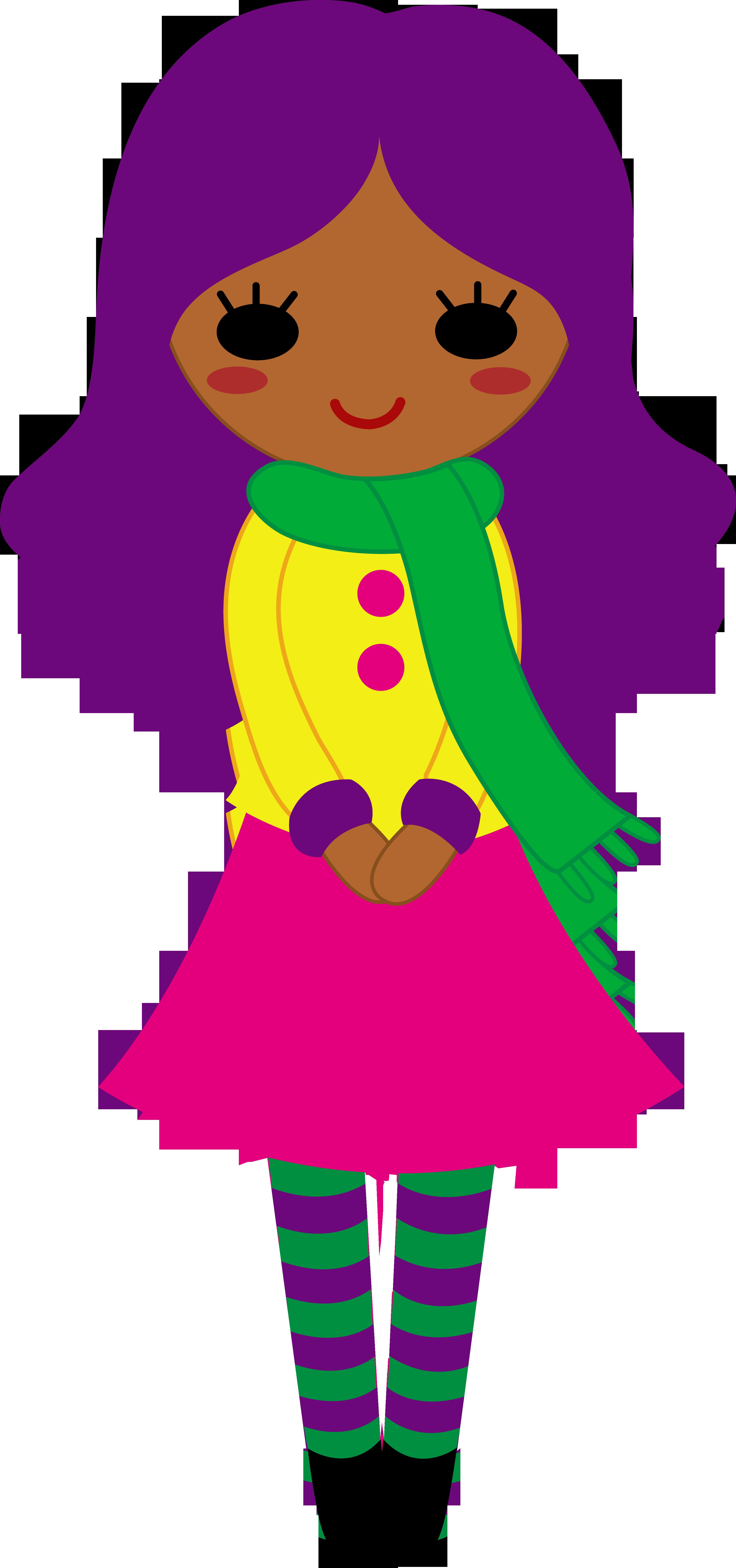 Hair clipart cute Girl Cute Purple With Hair