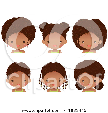 Hair clipart cute Illustration With Girl With Braided