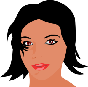 Short Hair clipart mother face Art image with hair high
