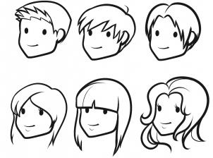 Hair clipart easy People of drawings people Google