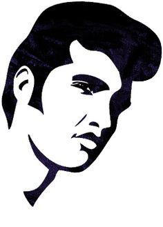 Hair clipart elvis hair The Silhouette Elvis Pinterest