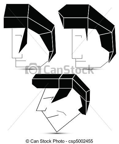 Hair clipart elvis hair Hair abstract abstract  heads