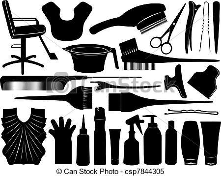 Hair clipart equipment Equipment illustration  vector Clip