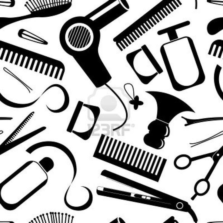 Hair clipart equipment Seamless Hairdressing 25+ on equipment