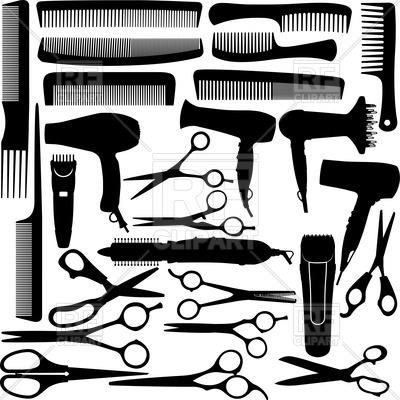 Hair clipart equipment Salon equipment scissors salon and