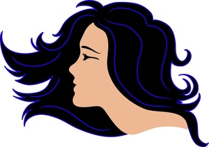 Hair clipart flowing hair Flowing Clipart Clipart Images Free