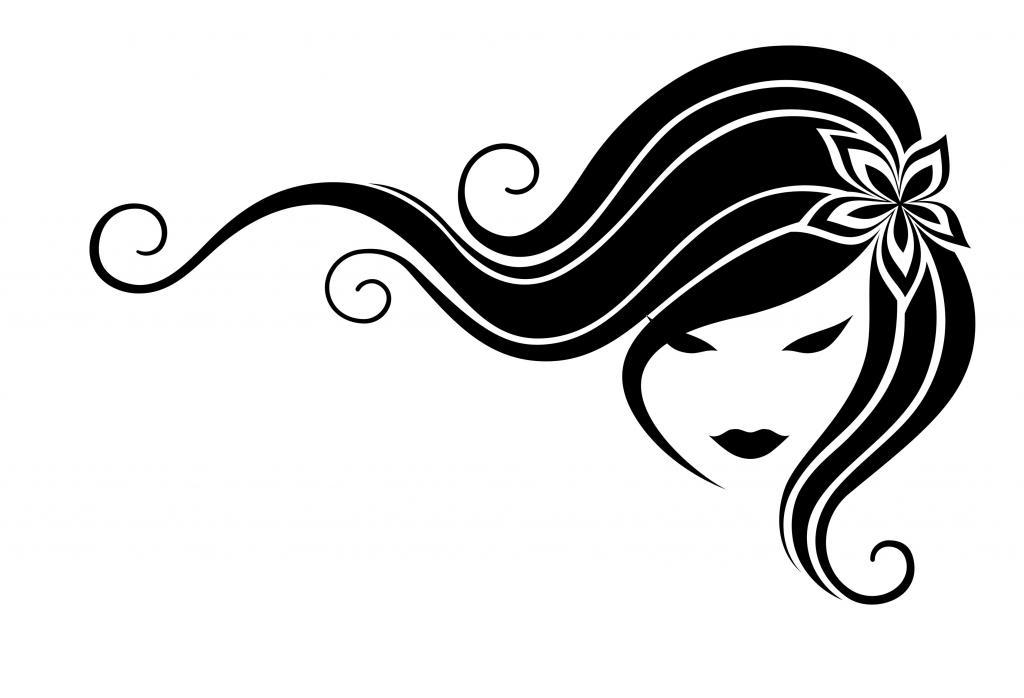 Hair clipart flowing hair Hair Flowing Silhouette Panda Images