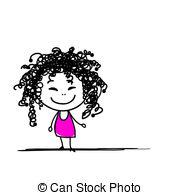 Hair clipart frizzy   hair Cute your
