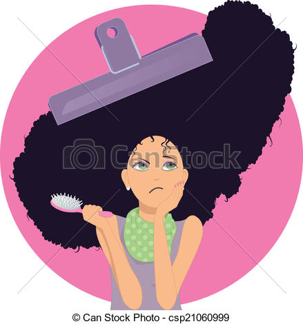 Hair clipart frizzy Images  Frizzy Unmanageable with