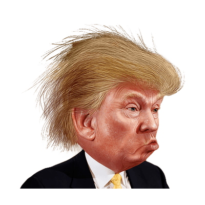 Hair clipart funny hair Funny StickPNG Trump Trump Funny