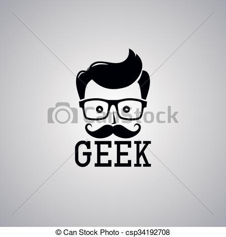 Hair clipart geek Vector Clipart  theme cartoon