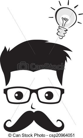 Hair clipart geek Clipart Vector  graphic avatar