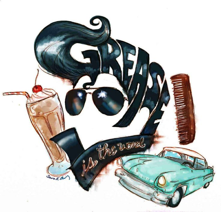 Hair clipart greaser  13 Grease grease costumes