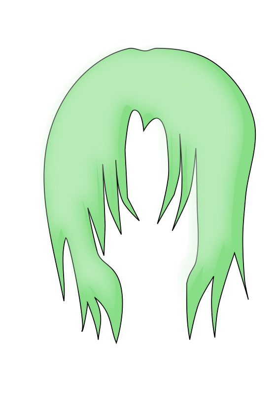 Hair clipart green (PNG) MEDIUM Clipart Anime 3