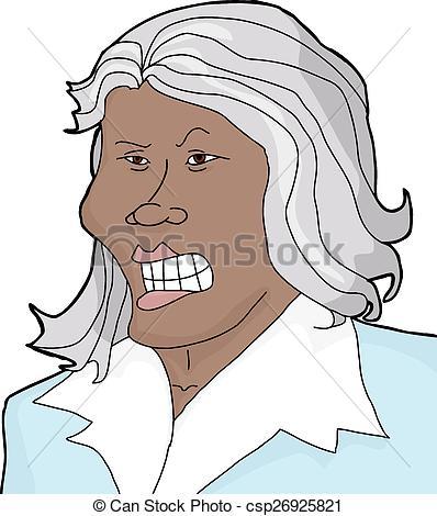 Hair clipart grey hair Of Mad csp26925821 Illustration Asian