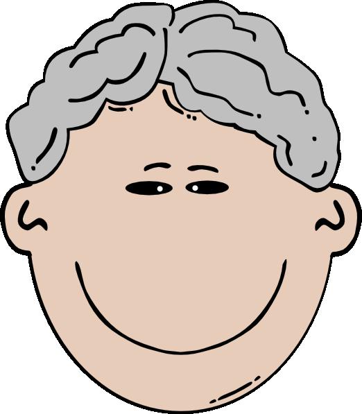 Hair clipart grey hair At Clker Mann Art royalty