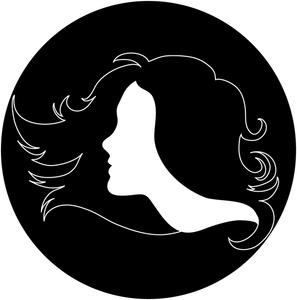 Woman clipart profile In Hair Salon Image: Woman