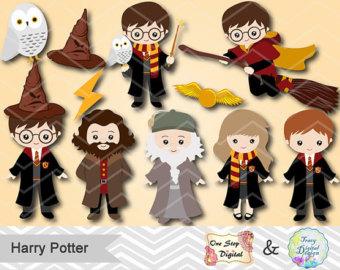 Hair clipart harry potter Digital Instant Digital Download Harry