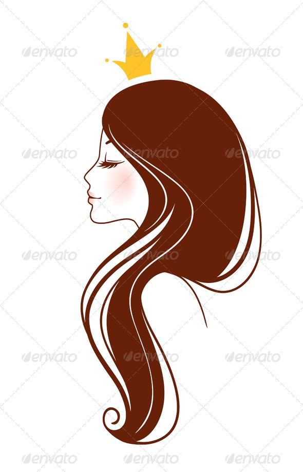 Sketch clipart beautiful lady Cartoon  Woman concept cartoon