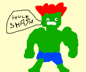 Hair clipart hulk The transforms ginger Hulk red