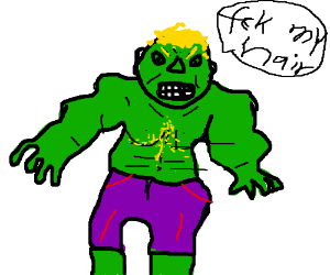 Hair clipart hulk Saying my eats Hulk blonde