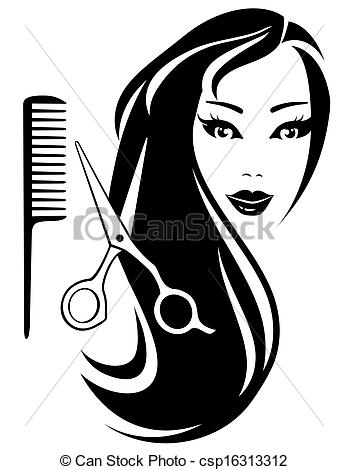 Hair clipart illustration And girl of long Clipart