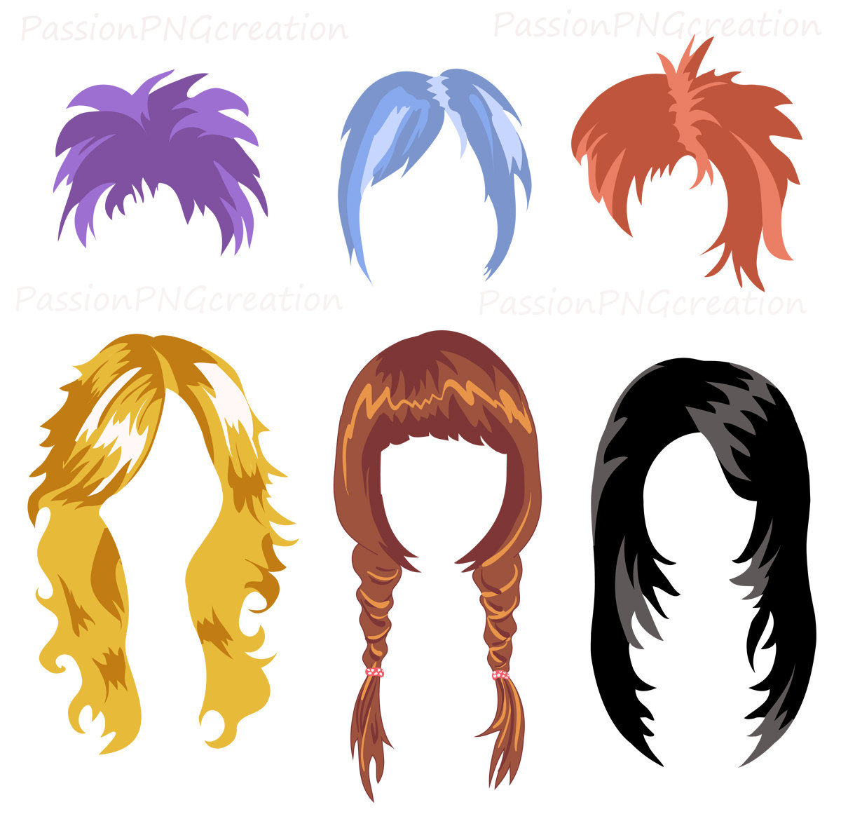 Red Hair clipart wig #10