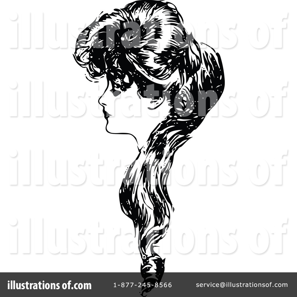 Hair clipart illustration #1116884 (RF) Vintage Clipart Prawny
