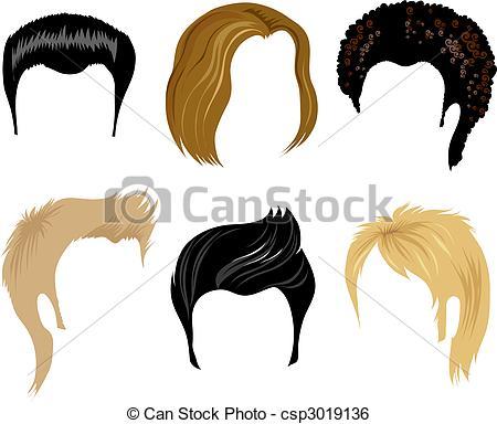Hair clipart illustration Vector hair hair Clip men