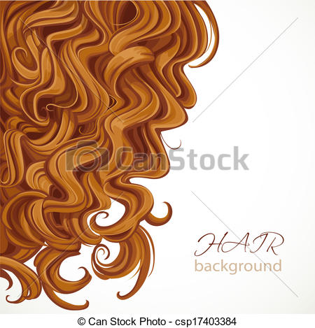 Hair clipart illustration Vector curly with hair Background