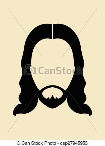 Hair clipart jesus Man Clipart and beards hair