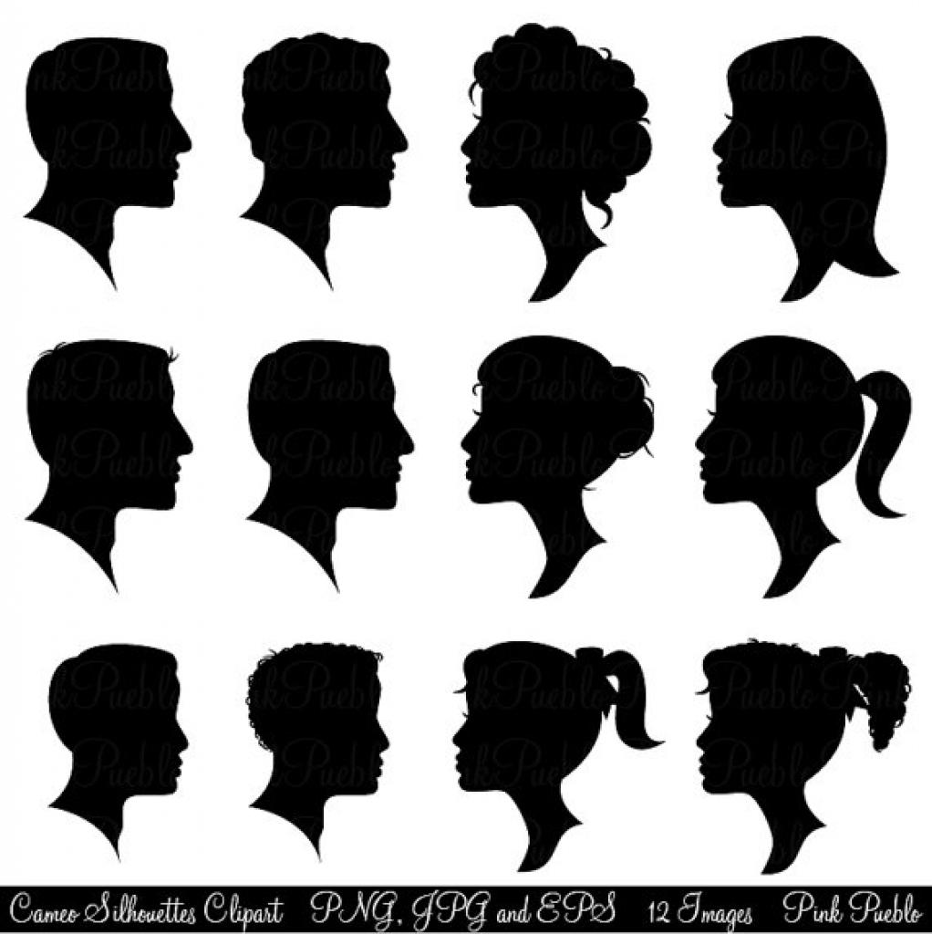 Hair clipart just hair Hair silhouettes cameo silhouettes