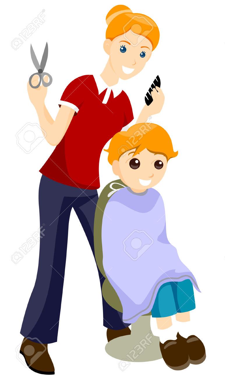Red Hair clipart kid hair Haircut Hair Poster Clipart haircutting