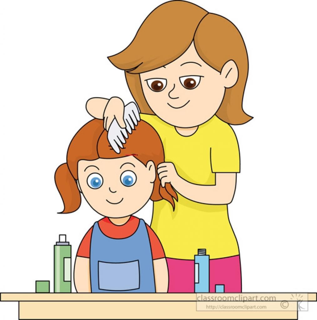 Hair clipart kid hair Kids hair combing Kids kids