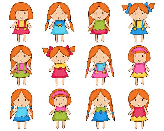 Red Hair clipart kid hair Digital Hair Kids Girls Clip