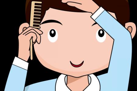 Hair clipart kid hair Clip Boy Brushing UK Boy
