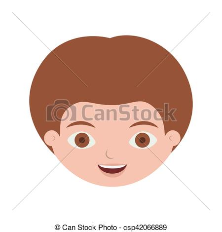 Hair clipart light brown Face light front front child