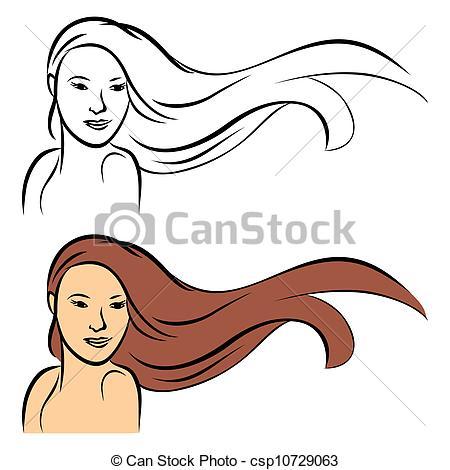 Hair clipart long hair #8