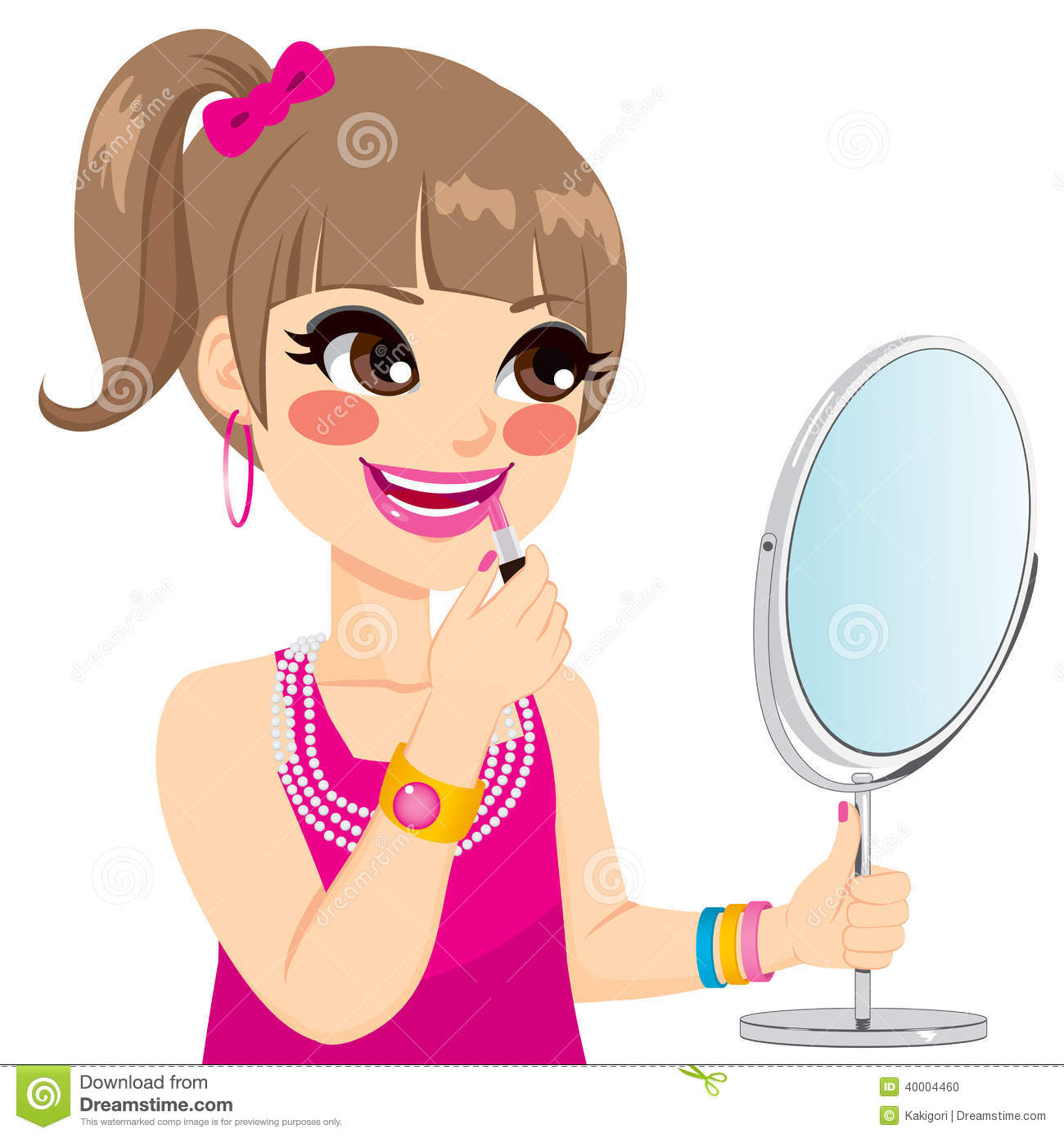 Makeup clipart hair Hair on put And Cliparts