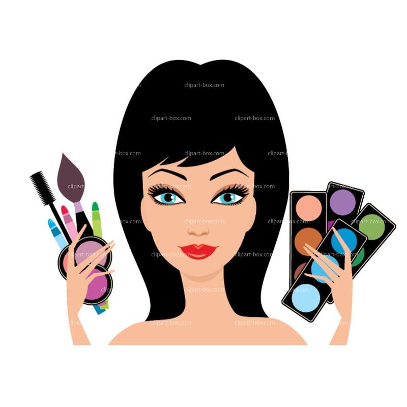 Hair clipart makeup artist 2 Makeup Putting on clip