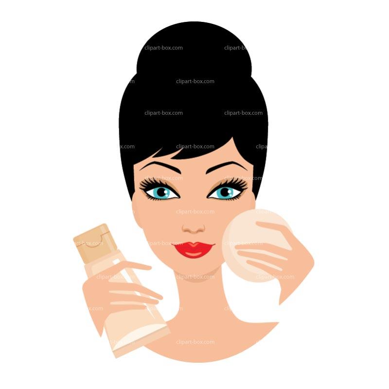 Hair clipart makeup artist Makeup images Putting on clip