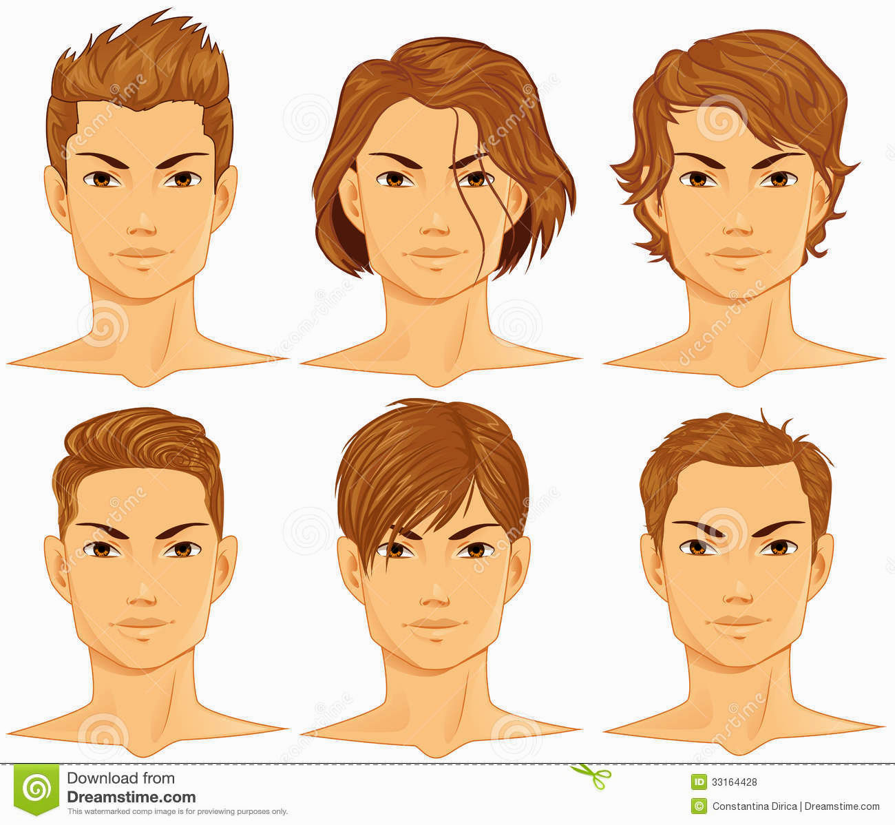 Short Hair clipart mens hair Curly Hairs Draw Picture draw
