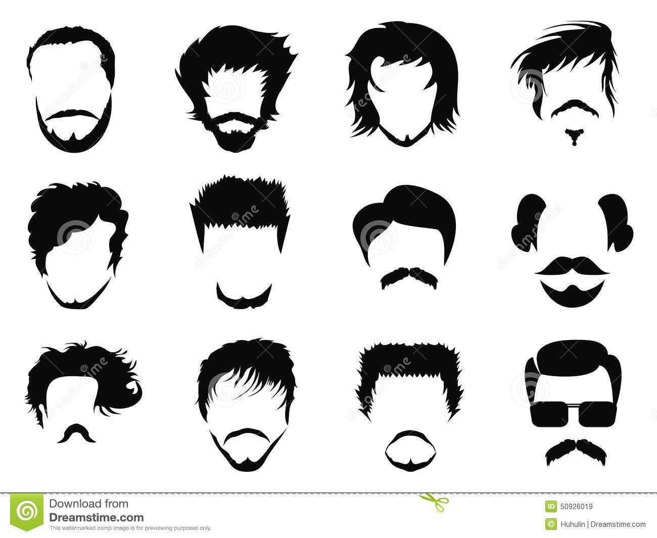 Hair clipart man hair Man hair Man Man Curly