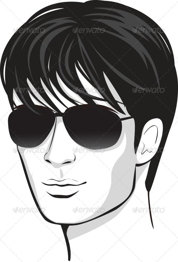 Black Hair clipart man face Design Vector Man Design Face