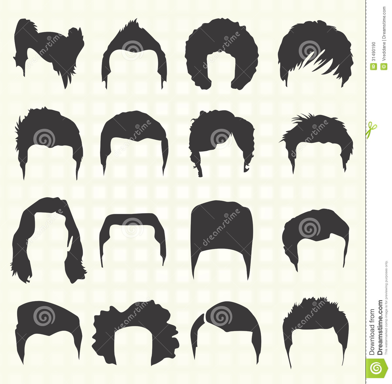 Dark Hair clipart guy Hair Comm hair wig guy