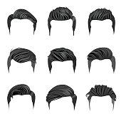 Hair clipart mens hair Messy Clipart Vector Set Hair