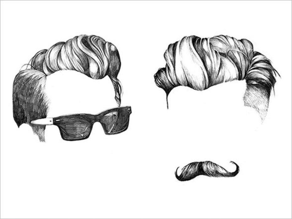 Hair clipart mens hair Wish I Mens' hair *Illustrations